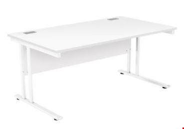 Lot 9501 BRAND NEW BOXED OCTET 2 RECTANGULAR 1600MM WORKSTATION - WHITE WITH WHITE FRAME REF ZF2/1608WHT