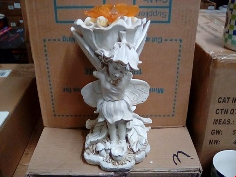 Lot 1050 2 BOXES OF 6 ASSORTED GARDEN ORNAMENTS INCLUDING FAIRY AND CHERUB