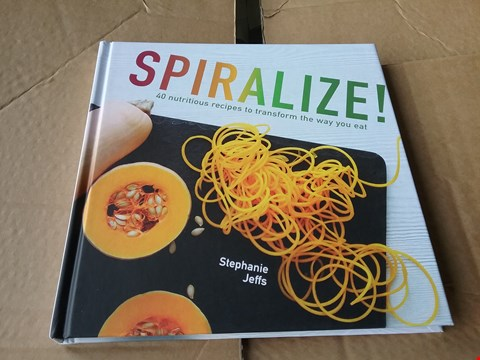 Lot 1025 BOX OF APPROXIMATELY 70 SPIRALIZE! RECIPE BOOKS
