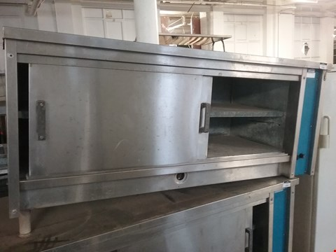 Lot 2138 GAS HEATED STAINLESS STEEL CUPBOARD