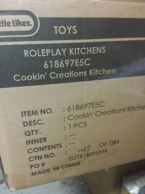 Lot 2197 GRADE 1 BOXED LITTLE TIKES COOKIN CREATIONS WOOD KITCHEN RRP £239.00