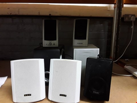 Lot 4113 JOB LOT OF SPEAKERS, BASS BOXES