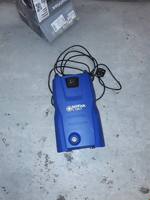 Lot 409 NILFISK C120 7-6 PATIO AND BRUSH PRESSURE WASHER - BLUE