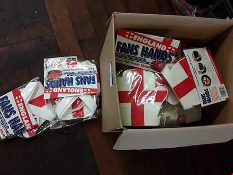 Lot 27 BOX OF ENGLAND FLAG HANDS