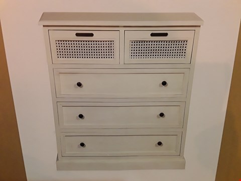 Lot 509 BOXED 5-DRAWER CREAM CHEST