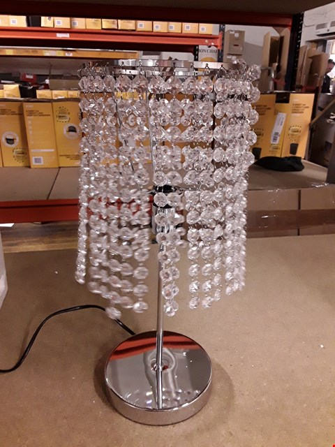 Lot 1074 GRADE 1 CRYSTAL TABLE LAMP  RRP £40