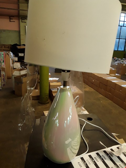 Lot 2350 POMORIA IRREDESCANT GLAZE TABLE LAMP RRP £63