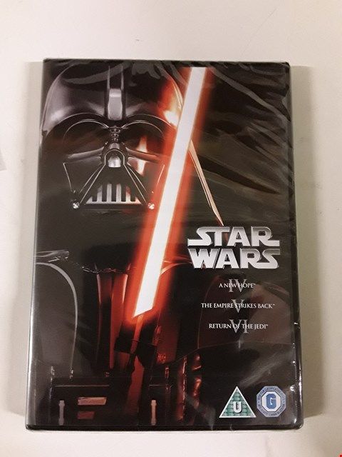 Lot 1581 BOXED STARWARS THE ORIGINAL TRILOGY DVD BOXSET RRP £30