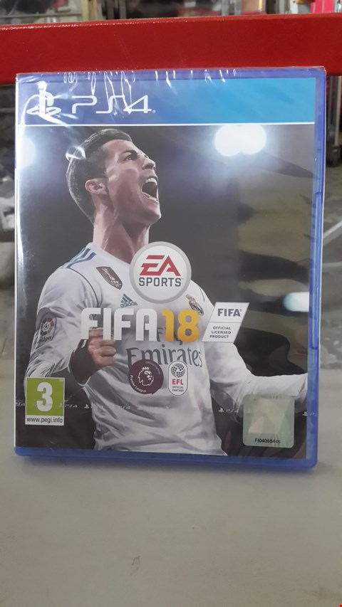 Lot 9001 FIFA 18 FOR PLAYSTATION 4