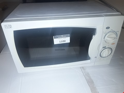 Lot 1100 CURRYS ESSENTIALS WHITE MICROWAVE