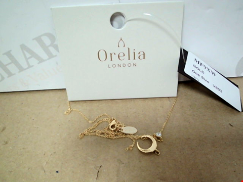 Lot 7173 ORELIA GOLD PLATED CRYSTAL DOUBLE TUSK LARIAT NECKLACE
