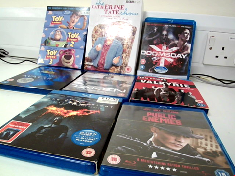 Lot 653 7 ASSORTED BLUERAY AND DVDS TO INCLUDE DOOMSDAY FILM AND A VALKRIE FILM
