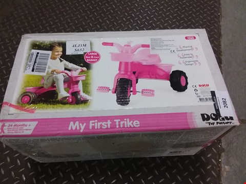 Lot 2082 BOXED DOLU MY FIRST TRIKE PINK RRP £33