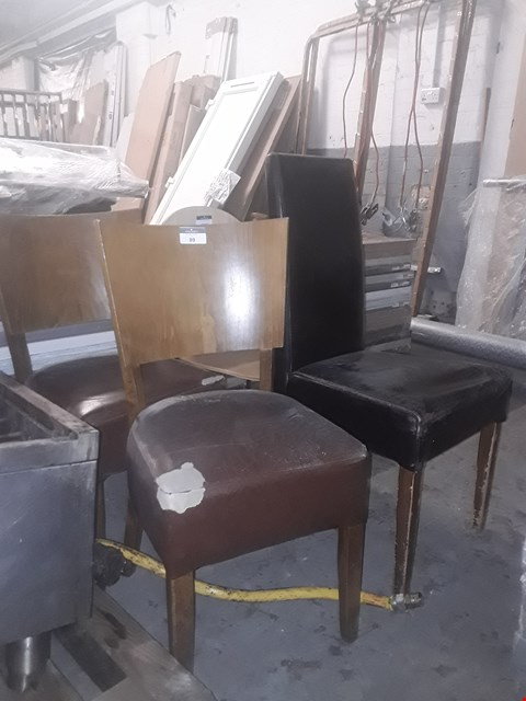 Lot 3564 6 ASSORTED CHAIRS