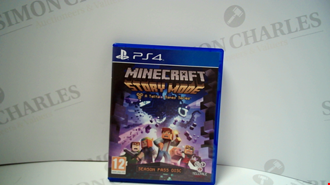 Lot 18013 MINECRAFT STORY MODE PLAYSTATION 4 GAME