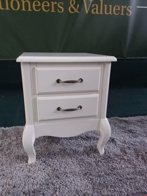 Lot 9145 BOXED OLIVIA GREY 2 DRAWER BEDSIDE CHEST