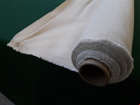 Lot 2071 ROLL OF NATURAL WEAVE FIRE RETARDANT MATERIAL APPROXIMATELY 140cm × SIZE UNSPECIFIED