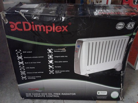 Lot 4640 DIMPLEX CADIZ ECO 3KW OIL FREE RADIATOR