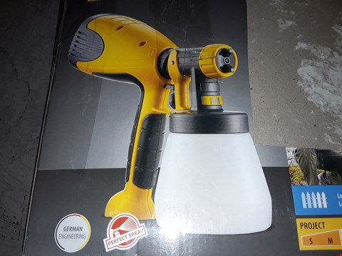 Lot 216 WAGNER W 100 ELECTRIC PAINT SPRAYER FOR WOOD & METAL PAINT - INTERIOR AND EXTERIOR USAGE, COVERS 5 M² IN 12 MIN, 800 ML CAPACITY, 280 W
