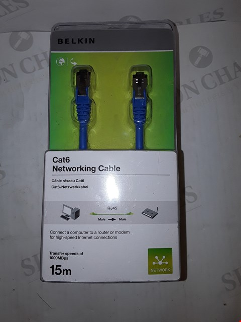 Lot 4239 BELKIN CAT6 NETWORKING CABLE 15M