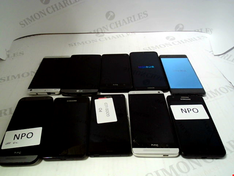 Lot 665 LOT OF APPROXIMATLEY 10 ASSORTED MOBILE PHONES AND SMARTPHONES ETC
