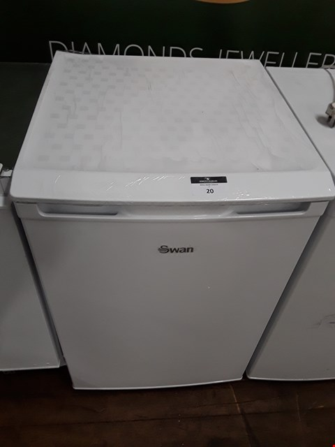 Lot 20 SWAN SR70180W 55CM WIDE UNDER-COUNTER FREEZER - WHITE RRP £179.99