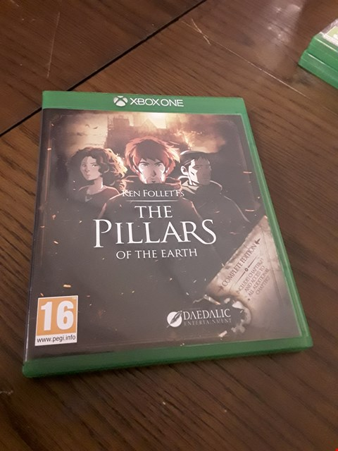 Lot 1015 KEN FOLLETS THE PILLARS OF EARTH XBOX ONE GAME