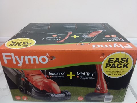 Lot 9079 FLYMO EASIMO LAWNMOWER + MINI TRIM GRASS TRIMMER RRP £120.00