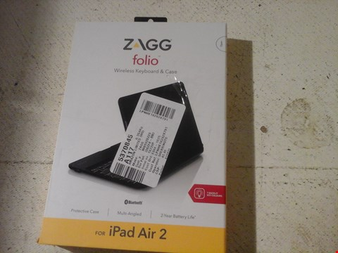 Lot 12 ZAGG FOLIO WIRELESS KEYBOARD AND CASE