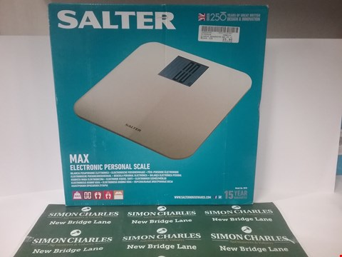 Lot 17154 BOXED SALTER MAX ELECTRONIC PERSONAL SCALE