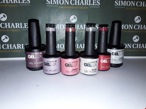 Lot 48 LOT OF 6 ASSORTED GELLUX NAIL PRODUCTS