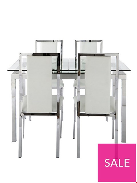 Lot 7103 BOXED GLIDE EXTENDING GLASS TABLE (1 BOX)