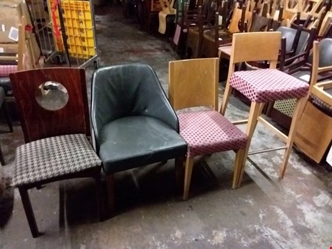 Lot 568 LOT OF APPROXIMATELY 60 ASSORTED CAFE STYLE DINING CHAIRS IN VARIOUS DESIGNS