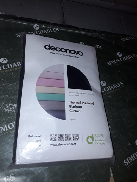 """Lot 1261 DECONOVO THERMAL INSULATED BLACKOUT CURTAIN 52"""" X 54"""""""
