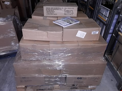 Lot 21 PALLET OF ASSORTED BOOKS IN BOXED MULTIPLES TO INCLUDE RUNSCAPE LEGACY OF BLOOD, CANNIBAL KILLERS AND GEORGE 3 HISTORIC LIVES
