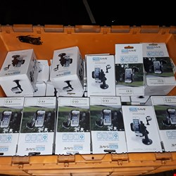 Lot 3018 LOT OF APPROXIMATELY 35 BOXED YOU SAVE UNIVERSAL CAR HOLDERS