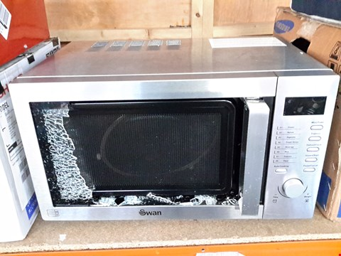Lot 451 SWAN SM22040 DIGITAL MICROWAVE OVEN SILVER RRP £125