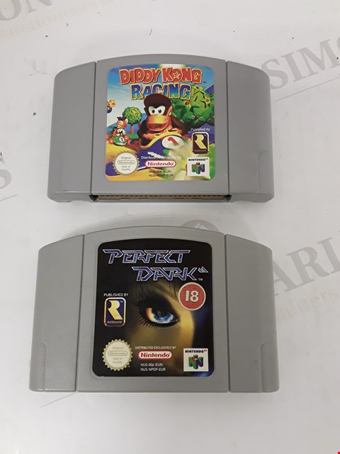 Lot 7171 LOT OF 2 ASSORTED NINTENDO 64 GAMES TO INCLUDE DIDDY KONG RACING AND PERFECT DARK