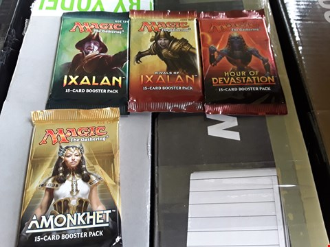 Lot 11004 BOX OF A SIGNIFICANT QUANTITY OF MAGIC THE GATHERING BOOSTER PACKS TO INCLUDE IXALAN, HOUSE OF DEVASTATION AND AMONKHET