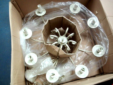 Lot 11337 OAKS LIGHTING TUSCANY 8 LIGHT FITTING IN PAINTED FINISH, IVORY AND GOLD