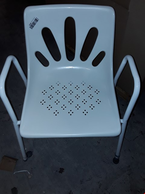 Lot 235 NRS HEALTHCARE SHOWER CHAIR WITH ARMS P01560 - HEIGHT ADJUSTABLE