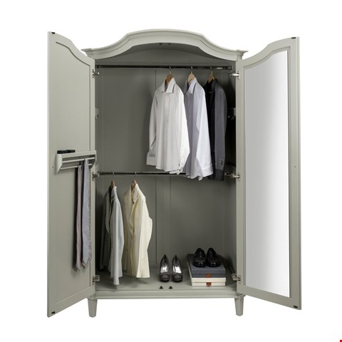 Lot 3048 CONTEMPORARY DESIGNER BOXED ABELLA 2 DOOR WARDROBE IN A MIST FINISH (3 BOXES) RRP £1098.00