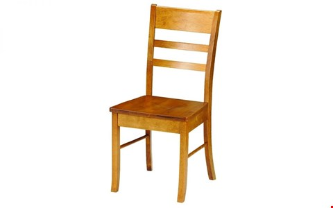 Lot 48 BOXED DESIGNER CONSORT HONEY PINE CHAIR RRP £143.99