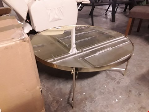 Lot 3179 DESIGNER GOLD COLOURED COFFEE TABLE