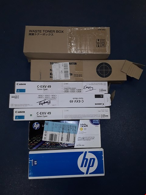 Lot 4148 LOT OF APPROXIMATELY 30 ASSORTED PRINTER ACCESSORY ITEMS TO INCLUDE CANON, HP, IJT ETC