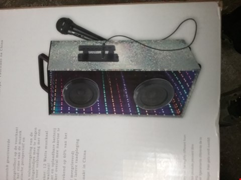 Lot 1272 LEXIBOOK PORTABLE SPEAKER WITH MICROPHONE AND LIGHTS