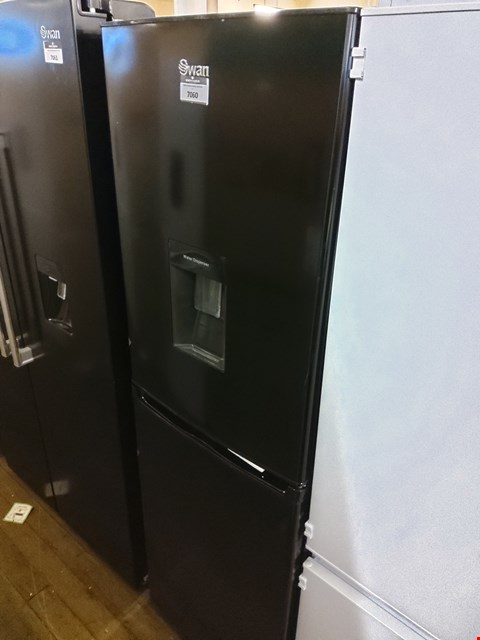 Lot 7060 SWAN BLACK 55CM FRIDGE FREEZER WITH WATER DISPENSER