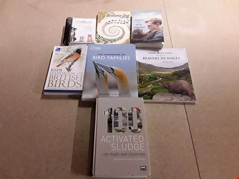 Lot 493 LOT OF APPROXIMATELY 7 ASSORTED NATURE THEMED BOOKS TO INCLUDE ADVENTURES OF A NATURALIST BY DAVID ATTENBOROUGH, NATIONAL HISTORY MUSEUM THE HANDBOOK OF BIRD FAMILIES, RSPB HANDBOOK OF BRITISH BIRDS E