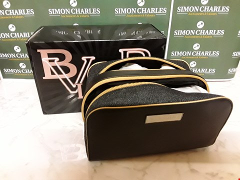 Lot 12042 BVLGARI STYLE MAKE UP BAG WITH ASSORTED BEAUTY ITEMS INSIDE