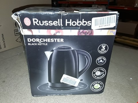 Lot 419 BOXED RUSSELL HOBBS DORCHESTER BLACK KETTLE